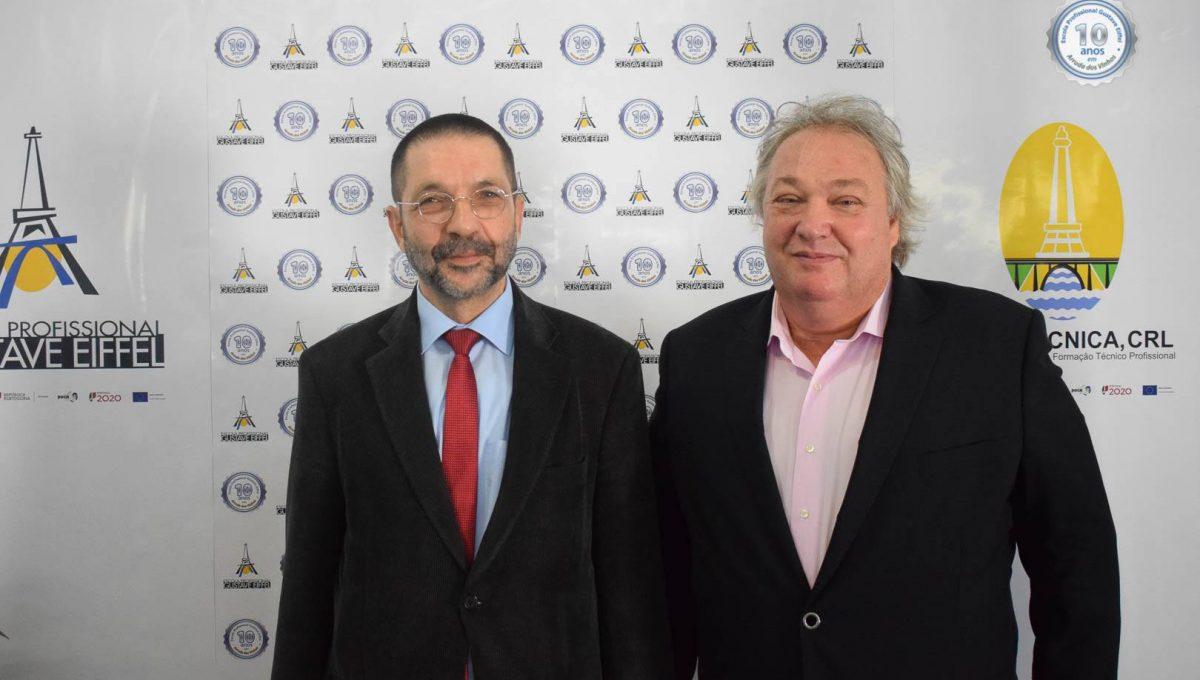 Engº Augusto Guedes (Presidente Conselho de Administração) e Prof. José Leal (Diretor do Polo)