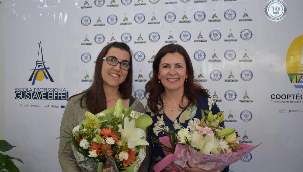 Profª Joana e Drª Suzana Rodrigues (Funcionárias presentes no polo desde a sua abertura)