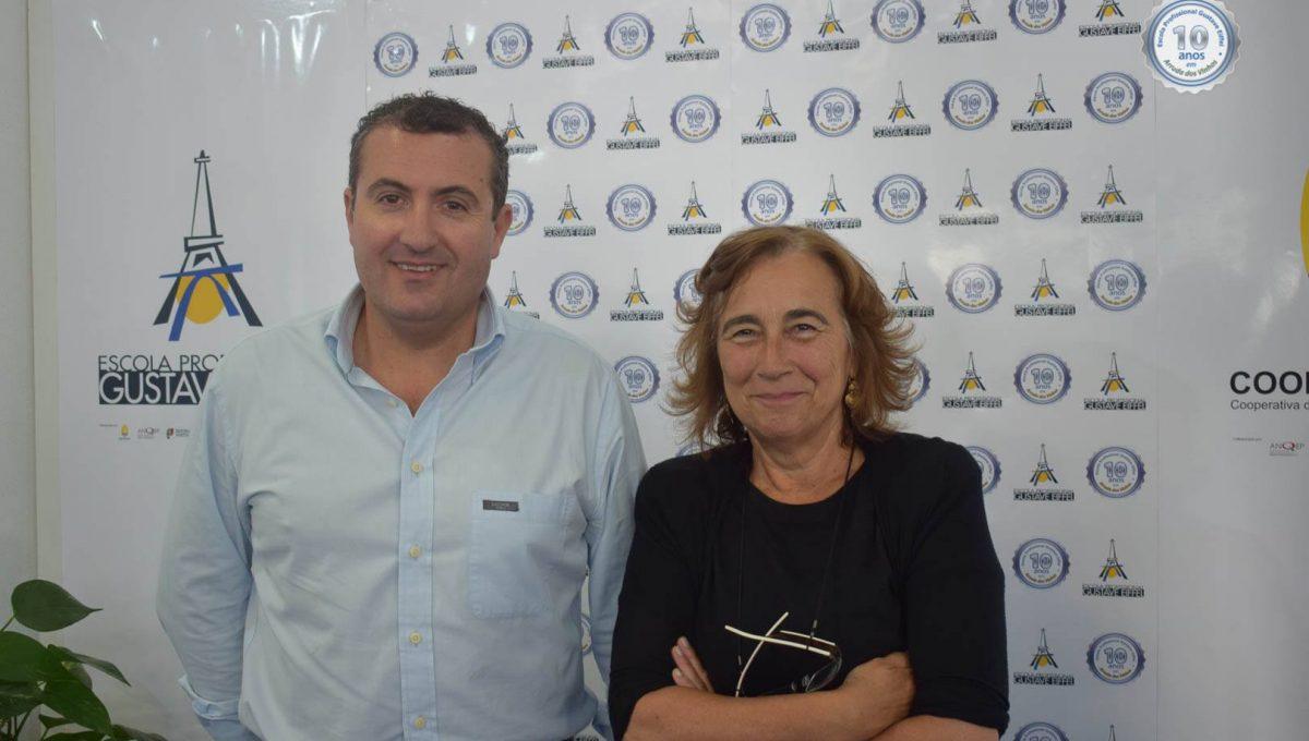 Prof. João Raposo (Diretor do AEAV) e Profª Isabel Vinhas (Representante da direção do EJAF)