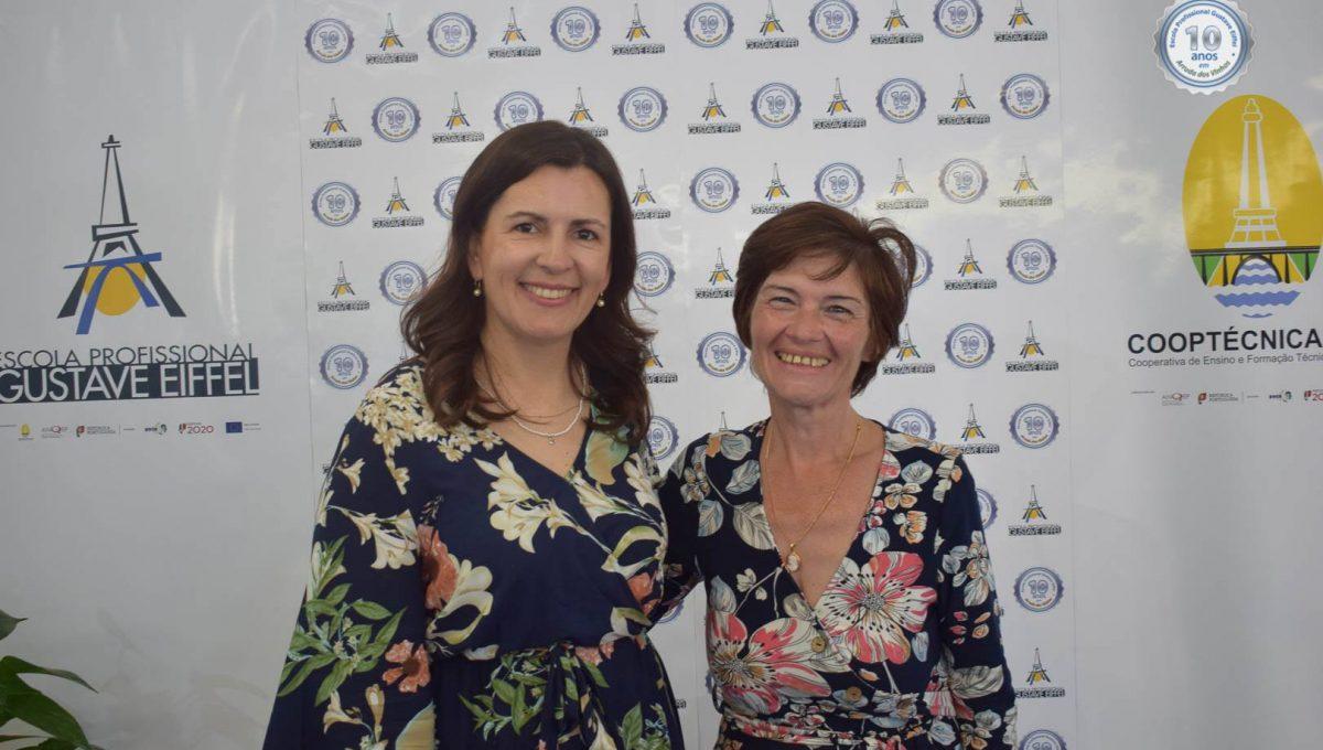 Srª Presidente da Assembleia Municipal, Dra Catarina Gaspar e Adjunta da Direção do Polo, Dra. Suzana Rodrigues
